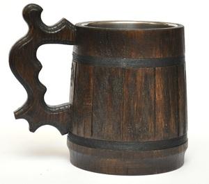 Wood Tankard Fer Drinking Meade